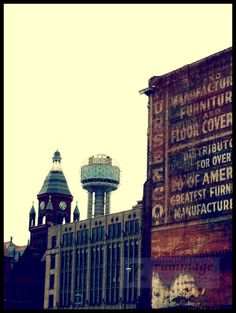 cross process + reunion tower + very old building #dallas #downtown (my photography)