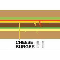TABLEAU - TOILE Tableau plexi cheese burger