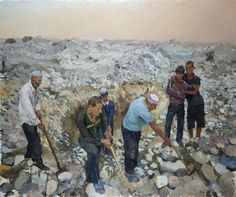 Liu Xiaodong. East. 2012. Oil on canvas. 2.5X3m.