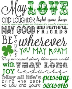 St. Patrick's Day Subway Art Printable