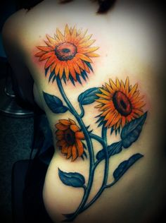 Sunflowers Tattoo   dig it but way smaller and different color. Also more flowers.