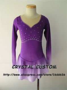 Aliexpress.com : Buy Hot Sales Girls Figure Skating Dresses Beautiful New Brand Ice Figure Skating Dress For Competition DR2781 from Reliable dress lilac suppliers on Crystal Professional Custom Figure Skating Dresses Store