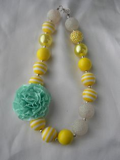 Sunkissed-Childrens chunky bead necklace