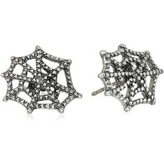 """Marc Jacobs """"Fall 2016"""" Cobb Webb Stud Earrings ($42) ❤ liked on Polyvore featuring jewelry, earrings, antique silver jewelry, marc jacobs earrings, antique silver jewellery, marc jacobs jewelry and antique silver earrings"""