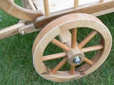 I made a wooden wagon for my granddaughter. Its material is walnut wood. Wooden Wheel, Wooden Wagon Wheels, Woodworking Plans, Woodworking Projects, Toy Wagon, Making Wooden Toys, Pvc Flooring, Wooden Projects, Wood Plans