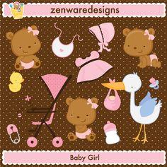 Baby Girl Bear Cliparts