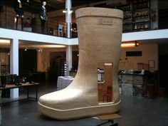 wellies maker Aigle at concept shop Merci, pinned by Ton van der Veer