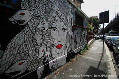 Hopnn street art on via Prenestina in Rome, photo by Jessica Stewart of RomePhotoBlog