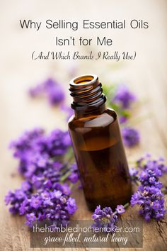 It is not uncommon for me to be asked to sell essential oils under one of my blogging friends. I respect many of these ladies who sell oils, but here is why selling essential oils isn't for me.