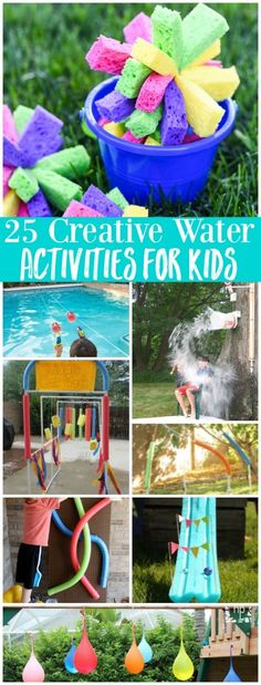25 Creative Water Activities and Games for Kids - fun Summer boredom buster ideas! - 25 Creative Water Activities and Games for Kids – fun Summer boredom buster ideas! 25 Creative Water Activities and Games for Kids – fun Summer boredom buster ideas! Summer Fun For Kids, Summer Activities For Kids, Toddler Activities, Fun Activities, Kids Fun, Fun Games, Summer Games, Kids Play Spaces, Summer Boredom