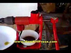 How to Make Olive Oil ~ www.HandOilPress.com ~ Manual Press - YouTube