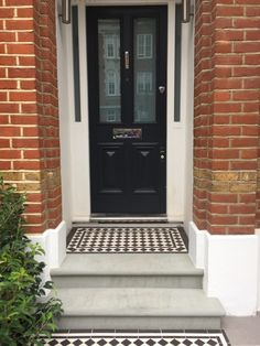 Anewgarden Garden Design offer complete garden design and build consultancy to clients seeking an outside space which is modern beautiful and functional Front Path, Front Door Steps, Porch Steps, Front Doors, Victorian Front Garden, Victorian Door, House Doors, House Wall, House Entrance