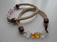 handmade armbands with checkish crystals