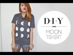 DIY - Moon T-shirt - YouTube