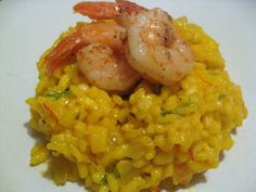 Saffron Risotto with Tarragon and Shrimp: A Friend Comes to Town | Turntable Kitchen