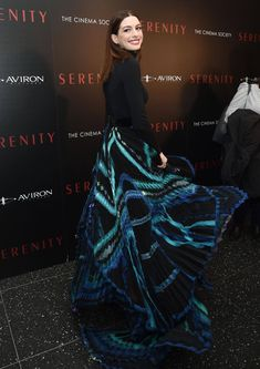 335125d1 Anne Hathaway wore a Givenchy Haute Couture Spring Summer 2018 outfit,  designed by Clare Waight Keller, to the Serenity New York Premiere, held on  January ...