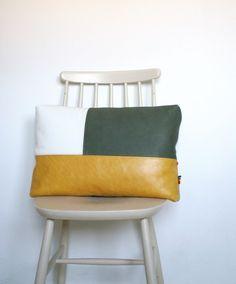 """Kussen """"Tre"""" : Mango van Sien Diy Pillows, Sofa Pillows, Decorative Pillows, Blue Pillows, Diy Cushion, Cushion Covers, Pillow Covers, Leather Pillow, Scatter Cushions"""