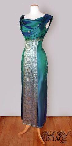 Vintage Vintage - Vintage Vintage Source by gojiberryclub - Saree Gown, Sari Dress, The Dress, Vintage Outfits, Vintage Dresses, Indian Gowns, Indian Outfits, Party Kleidung, Elfa