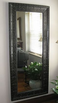 Tall Wall Mirrors pressed tin mirror - for guest rooms or bathrooms. | ideas for