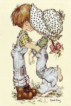 Immagini Sara Kay e Holly Hobbie Sarah Key, Holly Hobbie, Sara Key Imagenes, Vintage Pictures, Cute Pictures, Illustrations, Digi Stamps, Cute Illustration, Vintage Cards