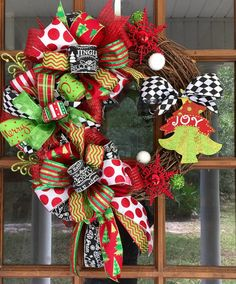 Christmas Grapevine Wreath / Joy Grapevine by SouthernWhimsyStyle