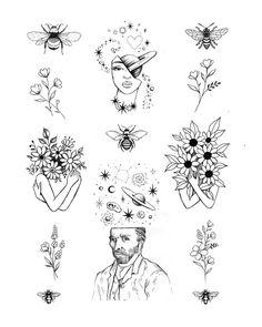 Small Tattoo Designs, Tattoo Sleeve Designs, Flower Tattoo Designs, Tattoo Designs Men, Flower Tattoos, Sleeve Tattoos, Wrist Tattoos, Tattoo Sleeves, Flower Tattoo Drawings