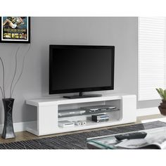 Tempered 2-drawer 60-inch TV Console