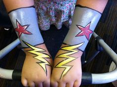 Wonder Woman wrist bands Painted by Danny Zelko