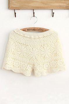 Sweet Crochet Shorts.