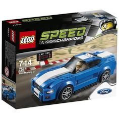 Buy LEGO Speed Champions: Ford Mustang GT at Mighty Ape NZ. Break records in this American dream car! Prepare the mighty LEGO® Speed Champions Ford Mustang GT for a desert race. Choose your wheel trims, set up. Ford Mustang Gt, 1968 Ford Mustang Fastback, Lego Racers, Lego Duplo, Lego Technic, Legos, American Dream Cars, Lego Wheels, Hot Wheels