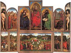 ヤン・ファン・エイク《ヘントの祭壇画》 1432 聖バーフ大聖堂