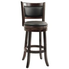 Boraam 48829 Augusta Bar Height Swivel Stool Cappuccino for sale online Cool Bar Stools, Bar Stools With Backs, Wooden Bar Stools, Black Bar Stools, Bar Stool Chairs, Counter Bar Stools, Swivel Bar Stools, Swivel Chair, Chair Cushions