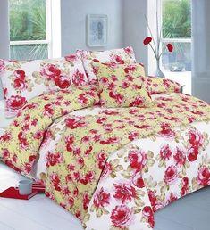 Floral Martha Red Bed In A Bag Duvet Quilt Cover Bedding Set — Linens Range