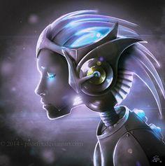 Infinity by Pistefix.deviantart.com on @DeviantArt  #digitalpainting #digitalart #portrait #fantasy  #scifi #cyborg #future #characters