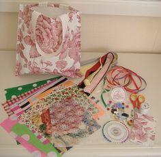 Sewing  Kit Starter set for Children inc HANDMADE BAG Christmas gift set