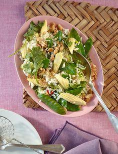 Rezept:   Asiatischer Reissalat