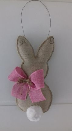 Ready for fun Easter craft ideas? Check out this collection of 32 DIY Easter Decorations to learn how to make everything from the bunny door hanging to Easy Glitter Easter Eggs! Easter Crafts For Toddlers, Toddler Crafts, Easter Ideas, Burlap Crafts, Diy And Crafts, Hand Crafts, Spring Crafts, Holiday Crafts, Diy Osterschmuck