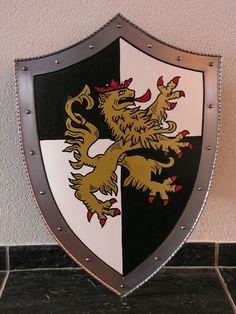 Wapenschild met leeuw, Zwart-Wit, Model WS027