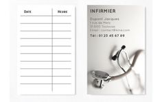Cartes De RDV Simples N3 Infirmier