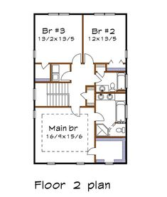 Country Style House Plan - 3 Beds 2.5 Baths 2124 Sq/Ft Plan #79-263 - Houseplans.com Country Style House Plans, Farmhouse Plans, Building Plans, Square Feet, Floor Plans, Flooring, How To Plan, Bedroom, Baths