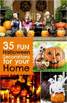 35 Fun Halloween Decorations for Your Home www.spaceshipsandlaserbeams.com