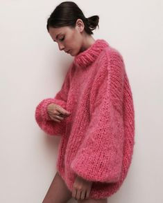 757377c5d6a477 Strick Pullover THE BUBBLEGUM made in magical mohair ☁ for a day like  today