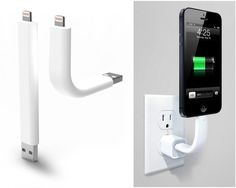 Very cool- Posable Lightning Cable Doubles as iPhone Stand