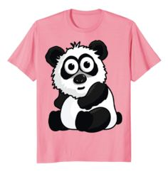 Cute Panda Bear T-Shirt for kids and adult bear lovers! A perfect gift for girls and boys on their birthday, on christmas or anytime they want to celebrate Panda Power. Lucky Blue, Power Animal, Kids Girls, Boys, Bear T Shirt, Cute Panda, Cute Tshirts, Pet Clothes, Panda Bear