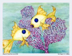 Tropical Dancing Fish Art Print