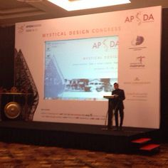 Presentation by Faried MS. Masdoeki, Interior Design of Hadiprana Firm on on #APSDA2014 #MysticalDesign Congress. #APSDAday4 #LiveFromAPSDA2014