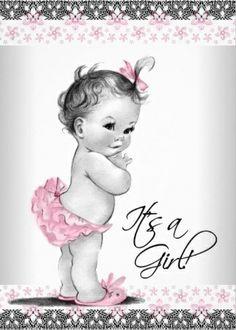 Vintage Cherub Baby Shower Invitations. #baby_shower_invitations