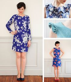 Sew Over It Ultimate Shift Dress - make it with long sleeves, sleeve frills, no sleeves or a neck flounce!