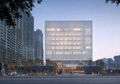 Completed in 2016 in Buk-gu, South Korea. Images by Yoon Junhwan. . Daegu Bank Project is to design the bank's second head office building in a 9,638m2 lot. Located in the city center, the site used to be the home of...