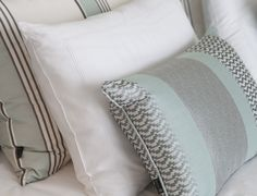 Byron & Jones Interiors - Cushions - Light Blue - White